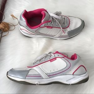 Vionic Zen Orthaheel Sneakers White Pink Size 8.5